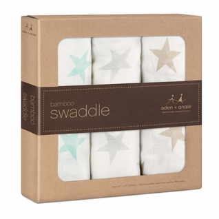 TEMPORARILY OUT OF STOCK Aden + Anais Bamboo Swaddles 3 Pack - Milky Way