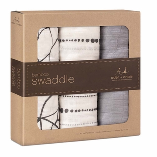 Aden + Anais Bamboo Swaddles 3 Pack - Moonlight