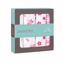 SOLD OUT Aden + Anais Classic Swaddles 4 Pack - Princess Posie