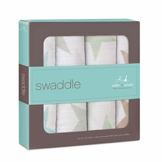 Aden + Anais Classic Swaddles 4 Pack - Super Star Scout