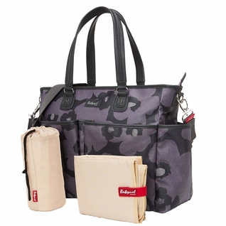 TEMPORARILY OUT OF STOCK Babymel Bella Diaper Bag- Grey Floral