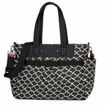 TEMPORARILY OUT OF STOCK Babymel Cara Tote Diaper Bag - Black Wave