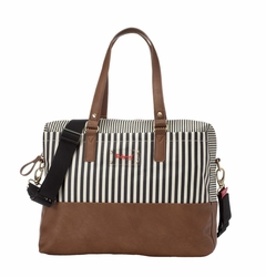 TEMPORARILY OUT OF STOCK Babymel Millie Diaper Tote Bag - Navy Stripe