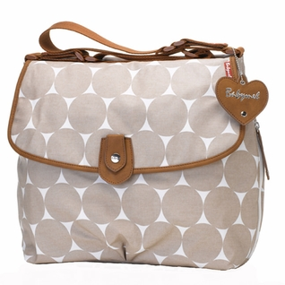 TEMPORARILY OUT OF STOCK Babymel Satchel Diaper Bag - Fawn Jumbo Dot