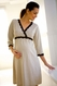 Belabumbum Dottie Lace Trim Maternity Nursing Kimono Nightgown