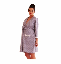 Belabumbum Dottie Lace Trim Maternity Nursing Robe