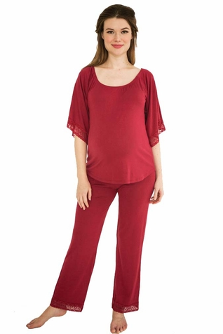TEMPORARILY OUT OF STOCK Belabumbum Eva Maternity Nursing Tunic And Pant Lounge Set