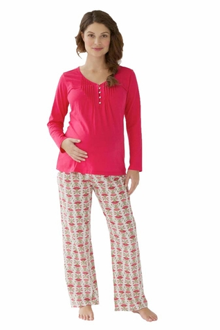Belabumbum Padma Maternity Nursing Tunic And Pant Lounge Pajama Set