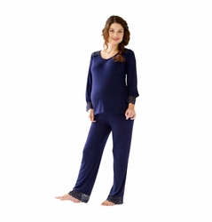 Belabumbum Tallulah Maternity Nursing Tunic And Pant Lounge Set