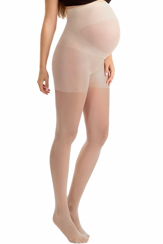 Blanqi Ultra Sheer Overbelly Support Band Maternity Pantyhose