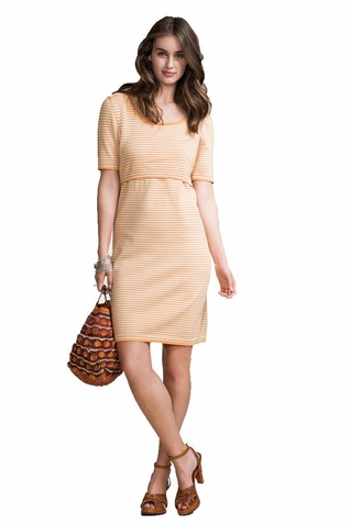 SOLD OUT Boob Maternity Nursing Short Sleeve Knitted Dress