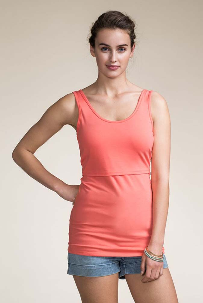 Boob's nursing singlet tank with double function for pregnancy and nursing. An essential basic garment in the nursing mother's wardrobe. Simply Lift the dual layer for breastfeeding access/5(21).