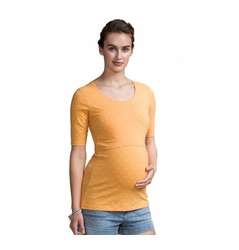 SOLD OUT Boob Organic Cotton Maternity Nursing Dot Top - Short Sleeve