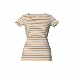 SOLD OUT Boob Simone Striped Maternity Nursing Top Short Sleeve