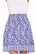 SOLD OUT Due Maternity Abigail Pregnancy And Beyond Tiered Skirt  - Blue/White