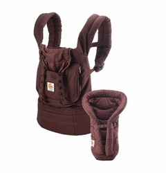 Ergobaby Bundle Of Joy Organic Carrier And Infant Insert - Dark Chocolate Brown