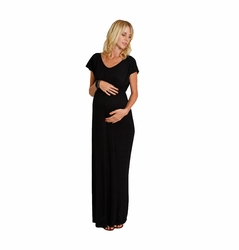 SOLD OUT Everly Grey Abbey Lace Detail Maternity Maxi Dress