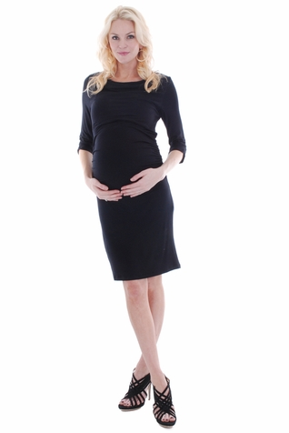 SOLD OUT Everly Grey Aileen Cowl Neck Maternity Dress
