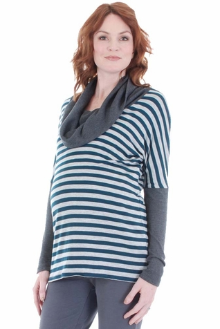 SOLD OUT Everly Grey Erica Cowl Neck Maternity Top