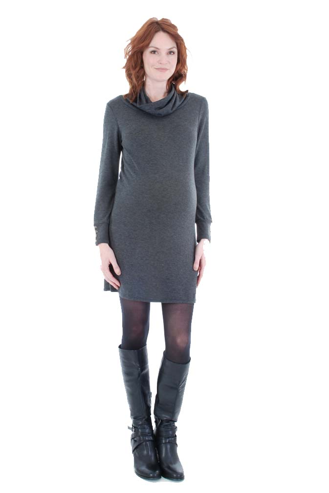 Everly Grey Marina Lightweight Maternity Sweater Dress | Maternity ...