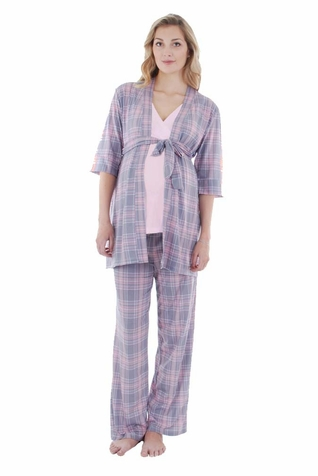 Everly Grey Susan 5 PC Maternity Nursing Pajama & Bra Set