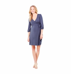 Ingrid & Isabel 3/4 Sleeve Maternity Wrap Dress