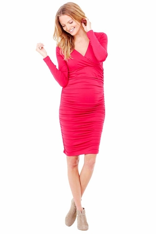 TEMPORARILY OUT OF STOCK Ingrid & Isabel Empire Shirred V Neck Maternity Nursing Dress