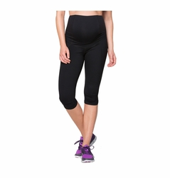 Ingrid & Isabel Maternity Active Fitness Pant With Crossover Panel - Knee