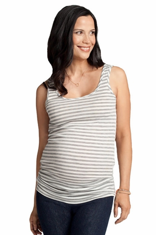 SOLD OUT Ingrid & Isabel Striped Scoop Neck Maternity Tank Top