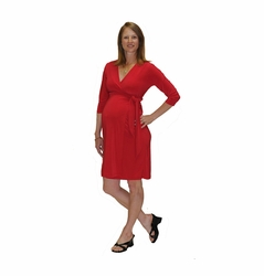 SOLD OUT Japanese Weekend Luxe Jersey Maternity Wrap Dress - Solid