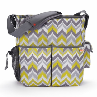 Jonathan Adler Duo Deluxe Diaper Bag - Yellow Flame by Skip Hop