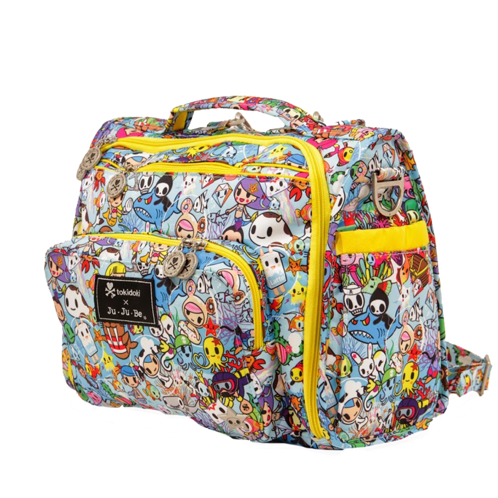 temorarily out of stock ju ju be b f f tote backpack style diaper bag tokidoki sea amo. Black Bedroom Furniture Sets. Home Design Ideas