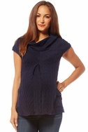 SOLD OUT Jules And Jim Maternity Cable Knit Pocket Sweater