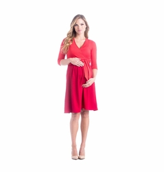TEMPORARILY OUT OF STOCK Lilac Abby Cross Front Maternity Nursing Dress