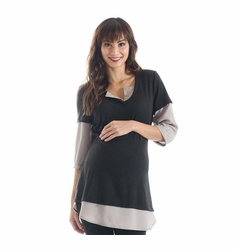 Lilac Cindi Double Layer Maternity Top