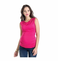 SOLD OUT Lilac Liz Sleeveless Cowl Neck Maternity Top