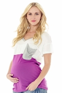 SOLD OUT Lilac Micah Color Block Pocket Maternity T-Shirt