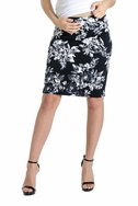 SOLD OUT Lilac Pencil Maternity Skirt - Floral