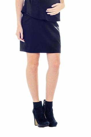 Lilac Pencil Maternity Skirt - Solid
