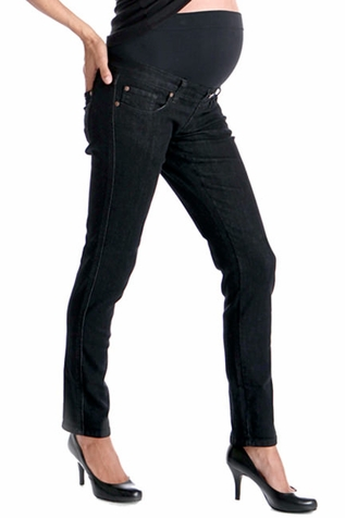 SOLD OUT Lilac Skinny 5 Pocket Maternity Jeans - Black