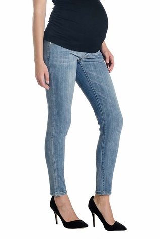 Lilac Skinny 5 Pocket Maternity Jeans - Light Wash