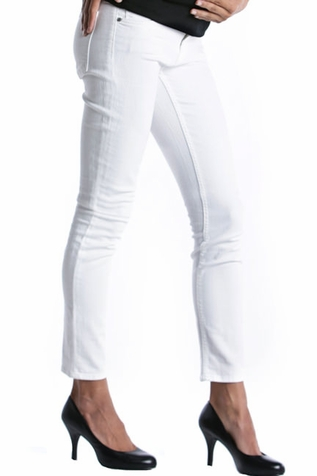 SOLD OUT  Lilac Skinny 5 Pocket Maternity Jeans - White