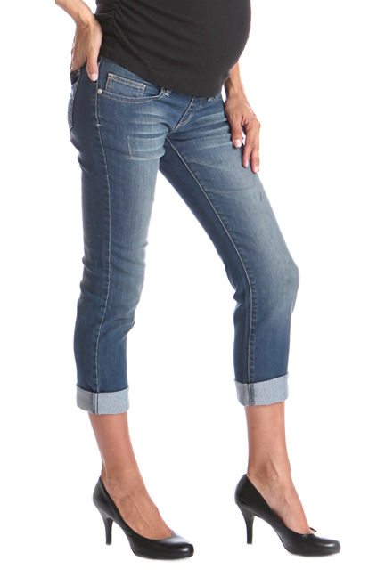 SOLD OUT Lilac Slim-Fit Low-Rise Boyfriend Maternity Jeans   SOLD OUT