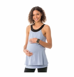 Majamas The Oakley Maternity Nursing Double Layer Tank Top