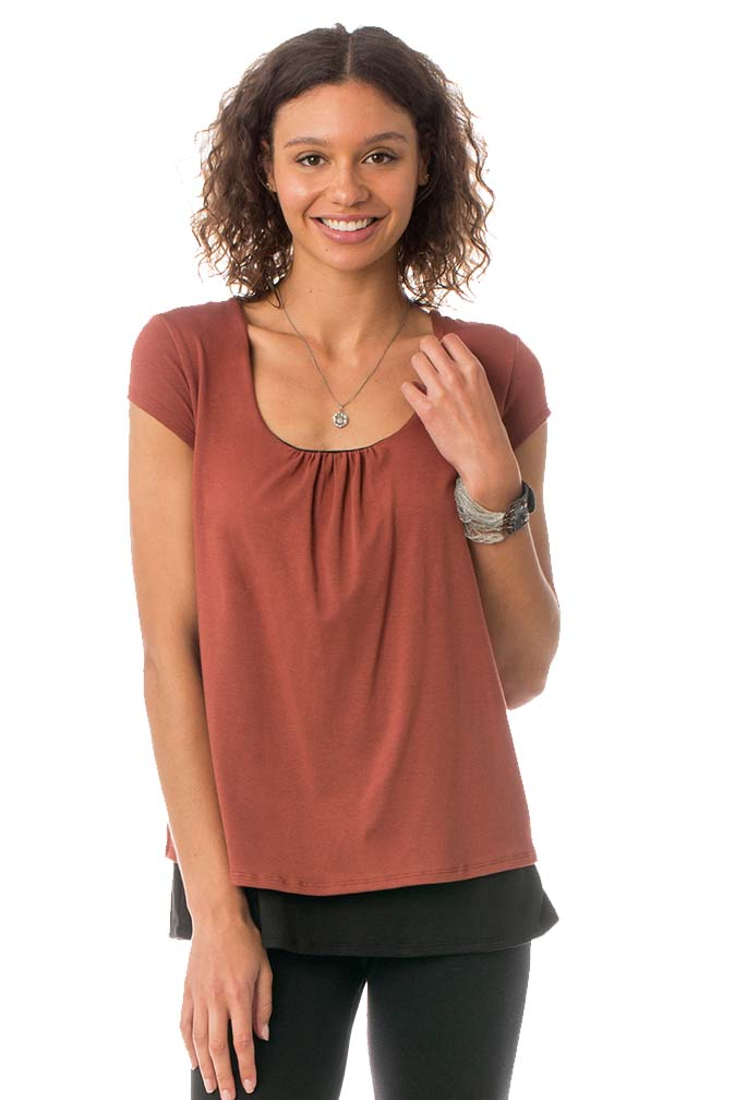 de33d368b3ba3 Majamas The Orchard Maternity Nursing Double Layer Top   Maternity Clothes  on Sale at Due Maternity