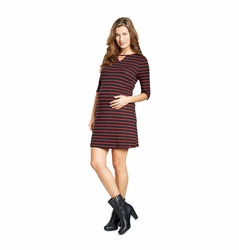 Maternal America Keyhole Maternity Shift Dress