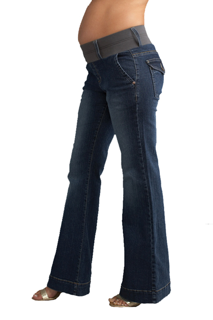 SOLD OUT Maternal America Megan Trouser Jeans - Blue Wash ...