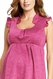 Maternal America Ruffle Trim Maternity Shift Dress