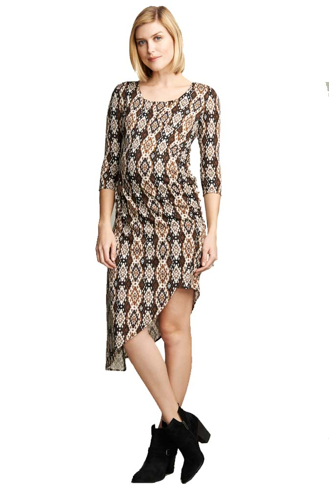 e7497fba2d4d8 Maternal America Side Zip Maternity Nursing Dress | Maternity Clothes on  Sale at Due Maternity