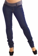 SOLD OUT Maternal America Skinny Maternity Jeans - Blue Wash